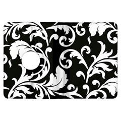Vector Classicaltr Aditional Black And White Floral Patterns Kindle Fire Hdx Flip 360 Case