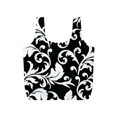 Vector Classicaltr Aditional Black And White Floral Patterns Full Print Recycle Bags (s)