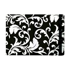 Vector Classicaltr Aditional Black And White Floral Patterns Ipad Mini 2 Flip Cases