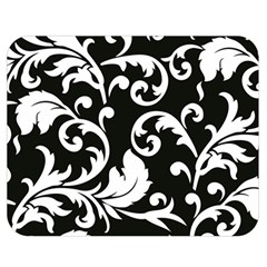 Vector Classicaltr Aditional Black And White Floral Patterns Double Sided Flano Blanket (medium)