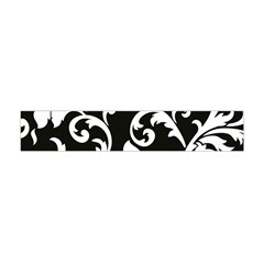 Vector Classicaltr Aditional Black And White Floral Patterns Flano Scarf (mini)