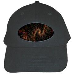 Multicolor Fractals Digital Art Design Black Cap