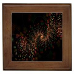 Multicolor Fractals Digital Art Design Framed Tiles