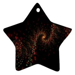 Multicolor Fractals Digital Art Design Ornament (star)