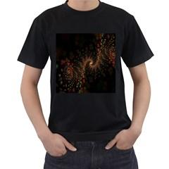 Multicolor Fractals Digital Art Design Men s T Shirt (black) (two Sided)