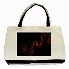 Multicolor Fractals Digital Art Design Basic Tote Bag