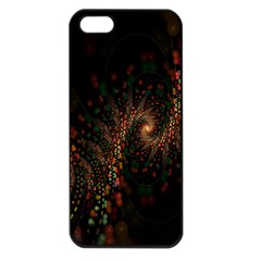 Multicolor Fractals Digital Art Design Apple Iphone 5 Seamless Case (black)