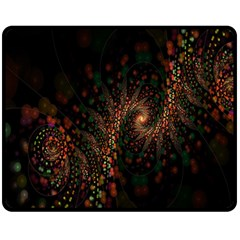 Multicolor Fractals Digital Art Design Double Sided Fleece Blanket (medium)