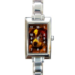 Cute 3d Dog Rectangle Italian Charm Watch