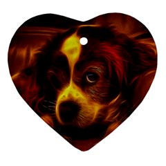 Cute 3d Dog Ornament (heart)