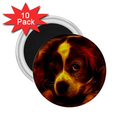 Cute 3d Dog 2 25  Magnets (10 Pack)