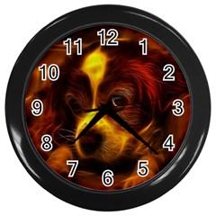 Cute 3d Dog Wall Clocks (black)