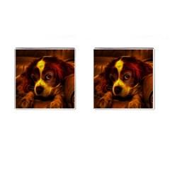 Cute 3d Dog Cufflinks (square)