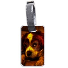 Cute 3d Dog Luggage Tags (one Side)