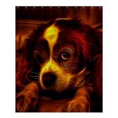 Cute 3d Dog Shower Curtain 60  X 72  (medium)