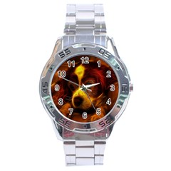 Cute 3d Dog Stainless Steel Analogue Watch