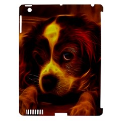 Cute 3d Dog Apple Ipad 3/4 Hardshell Case (compatible With Smart Cover)
