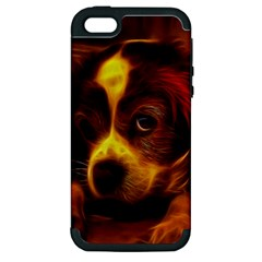 Cute 3d Dog Apple Iphone 5 Hardshell Case (pc+silicone)