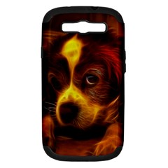 Cute 3d Dog Samsung Galaxy S Iii Hardshell Case (pc+silicone)