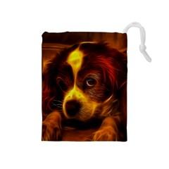 Cute 3d Dog Drawstring Pouches (medium)