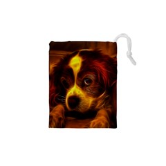 Cute 3d Dog Drawstring Pouches (xs)