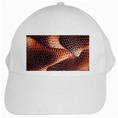 Snake Python Skin Pattern White Cap