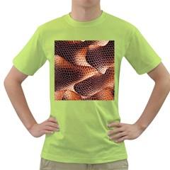 Snake Python Skin Pattern Green T Shirt