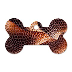 Snake Python Skin Pattern Dog Tag Bone (one Side)