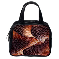 Snake Python Skin Pattern Classic Handbags (one Side)