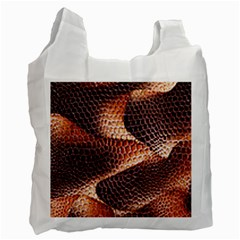 Snake Python Skin Pattern Recycle Bag (one Side)