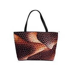 Snake Python Skin Pattern Shoulder Handbags