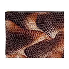 Snake Python Skin Pattern Cosmetic Bag (xl)