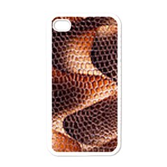 Snake Python Skin Pattern Apple Iphone 4 Case (white)