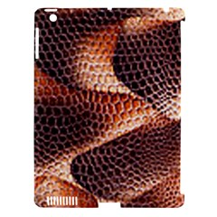 Snake Python Skin Pattern Apple Ipad 3/4 Hardshell Case (compatible With Smart Cover)