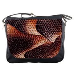 Snake Python Skin Pattern Messenger Bags
