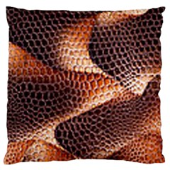 Snake Python Skin Pattern Large Cushion Case (two Sides)