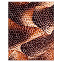 Snake Python Skin Pattern Drawstring Bag (large)