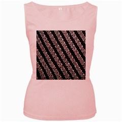 Batik Jarik Parang Women s Pink Tank Top