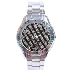 Batik Jarik Parang Stainless Steel Analogue Watch