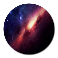 Digital Space Universe Round Mousepads
