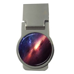 Digital Space Universe Money Clips (round)