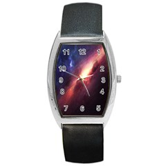 Digital Space Universe Barrel Style Metal Watch