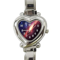 Digital Space Universe Heart Italian Charm Watch