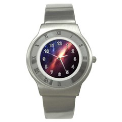 Digital Space Universe Stainless Steel Watch