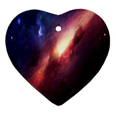 Digital Space Universe Heart Ornament (two Sides)