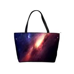 Digital Space Universe Shoulder Handbags