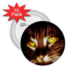 Cat Face 2 25  Buttons (10 Pack)