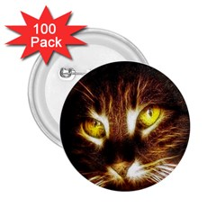 Cat Face 2 25  Buttons (100 Pack)