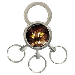 Cat Face 3 Ring Key Chains