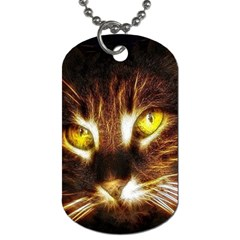 Cat Face Dog Tag (one Side)